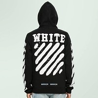 OFFWHITE Fashion Casual Pattern Print Top Sweater Pullover