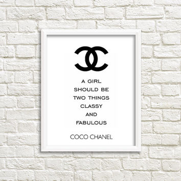 printable quotes printable poster art coco chanel quote high fashion wall art printable women gift Digital print wall art quote poster print