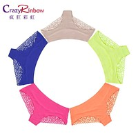 2016 Hot sale! l women's sexy lace panties seamless cotton breathable panty Hollow briefs Plus Size girl brand underwear