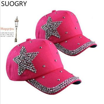 DCCKU62 Retail Millinery women flag diamond hat rhinestone cap snapback hat diamond baseball hat rhinestone baseball hat 1pcs/lot Free