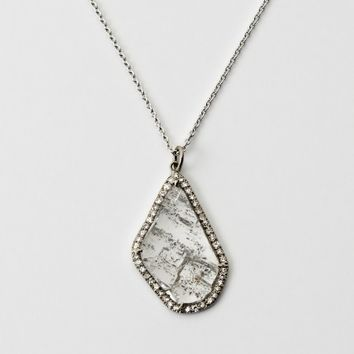 William Welstead Pear Shaped Flat Diamond Pendant