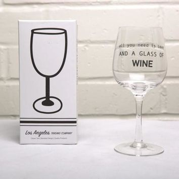 Wine Glass- Love and Wine