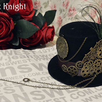 Steampunk Little Top Hat Black Fedoras