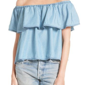 Rebecca Minkoff Dev Off the Shoulder Blouse | Nordstrom