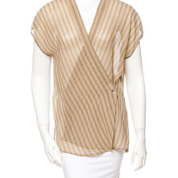 Calvin Klein Collection Silk Wrap Top