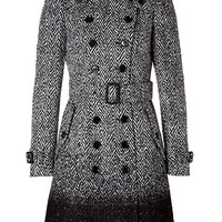 Burberry London - Wool-Blend Callcott Coat in Black Check