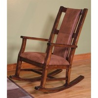 Sunny Designs Rocker with Cushion Seat & Back In Dark Chocolate