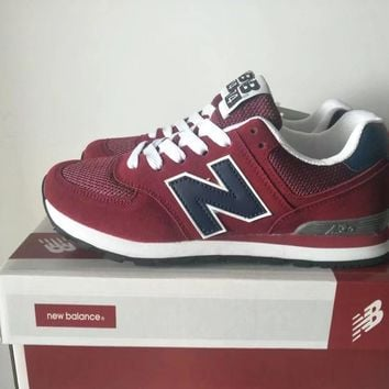 New Balance 574 Sport Casual Unisex N Words Retro Sneakers Couple Running Shoes-1