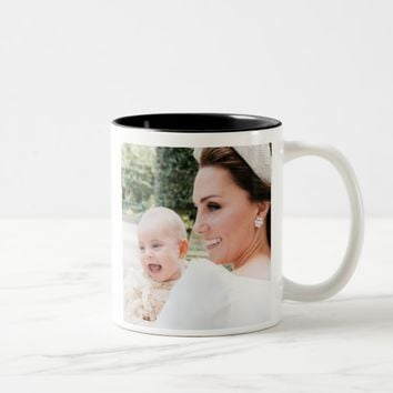 Duchess Kate and Prince Louis Two-Tone Coffee Mug