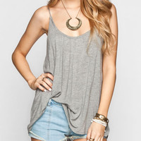 Rvca Forthright Bluff Womens Tank Heather Grey  In Sizes