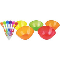 Munchkin 6-Pack Soft-Tip Infant Spoons with 5 Pack Multi Bowl Set