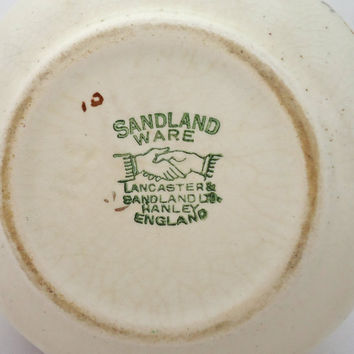 Vintage Lancaster Sandland Ltd English Ware Sugar Bowl Hanley England, UK Seller