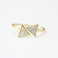 Triangle Open Ring