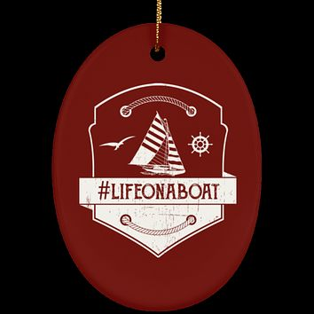 Life On Boat Christmas Decorations Ornament