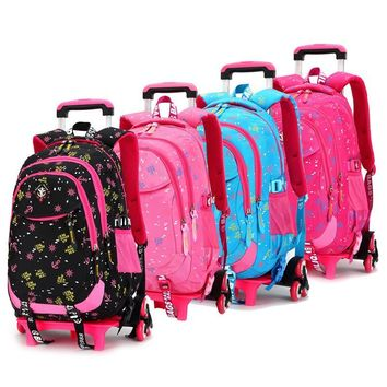 Rolling Backpacks School Bagpack Sac a dos Children Bags Bolsa Infantil School Bags for Girls Schoolbag Back to School Backpacks