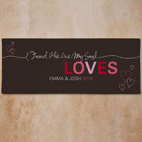 Personalized Romantic Couples Wall Canvas