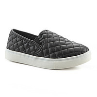 Steve Madden Girls' J-Ecentricq Quilted Slip-On Shoes - Black