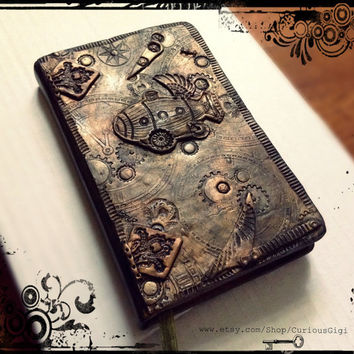 steampunk small lined journal