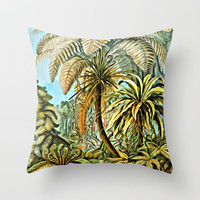 TROPICAL JUNGLE Throw Pillow by Digital Effects