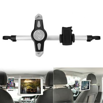 Car Headrest Tablet Mount Holder Bracket 360 Degree Rotation Universal Diy Hack