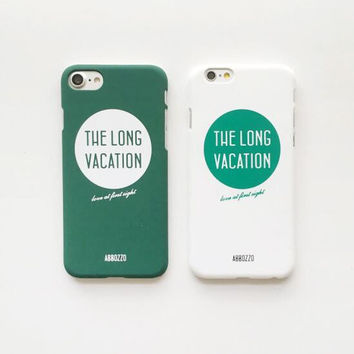 Green and white phone case for iPhone 7 7plus 6 6S 6plus 6Splus 1110J01
