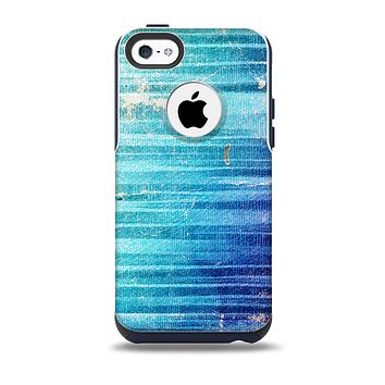 Patchy Folded Vibrant Blue Paint Skin for the iPhone 5c OtterBox Commuter Case