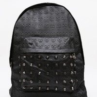 Studded Out Skull Backpack - One