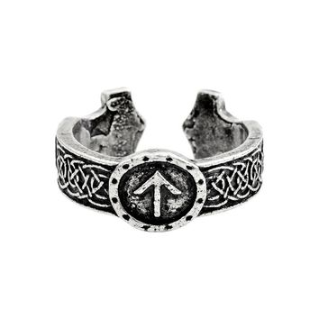 Miss Zoe Norse Viking Rings Nordic mythology language Single ring Bronze Antique silver Retro Vintage Jewelry for Men Gift