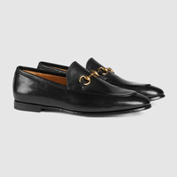 Gucci - Gucci Jordaan leather horsebit loafer