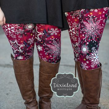 Baby It's Cold Snowflake Leggings