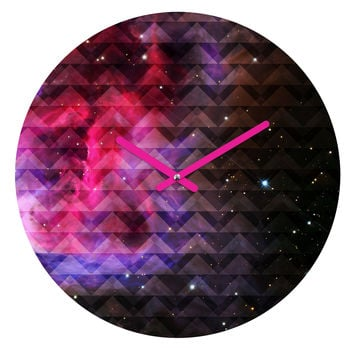 Caleb Troy Tribal Galaxy Elevator Round Clock