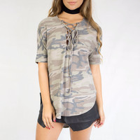 Armor of Love Camo High-Low Top