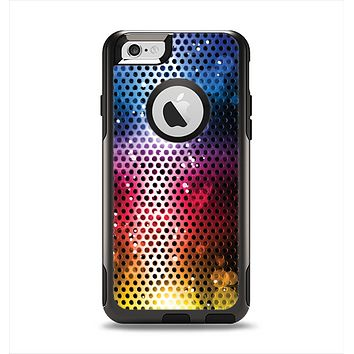 The Neon Glowing Grill Mesh Apple iPhone 6 Otterbox Commuter Case Skin Set