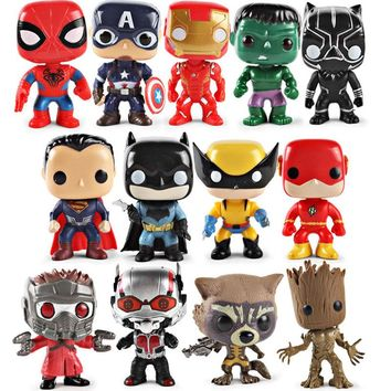 Hot Muti Style Cute Marvel Superheros Action Figures Avengers 3 Guardian of the Galaxy Hulk/Ironman/Treeman Model Figure Doll