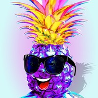NEW Design on Shop! 🍍 Pineapple Ultraviolet Happy Dude with Sunglasses 🍍
