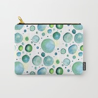 Bubbles Watercolor Carry-All Pouch by Doucette Designs