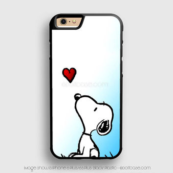 snoopy love heart iPhone 6 Plus Case iPhone 6S+ Cases