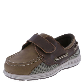 SmartFit Boys' Toddler Benton Boat Shoe Tan 5 M US Toddler '