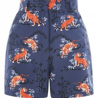PETITE Tiger Print Shorts - Shorts - Clothing