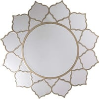 Rowland Beveled Wall Mirror Champange - Home Decor | Surya