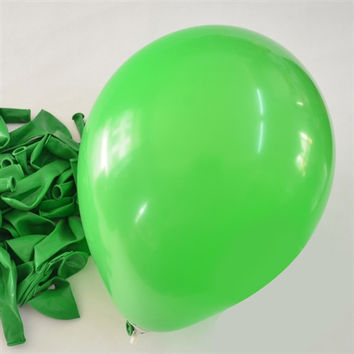 Latex Solid Balloons, 12-inch, 12-Piece, Apple Green