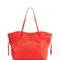 Marion East-West Slouchy Tote Bag, Massai Red - Tory Burch