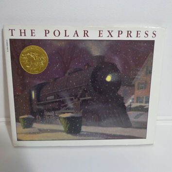 The Polar Express Classic Christmas Holiday Children's Book from 1985, Vintage Retro Winter Time Favorite Story