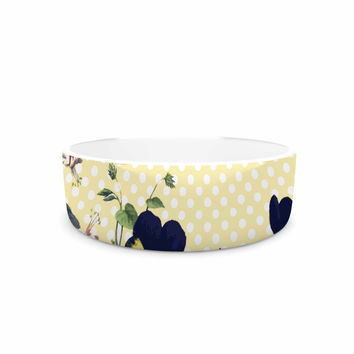 "Alison Coxon ""Polka Dot"" Purple Yellow Pet Bowl"