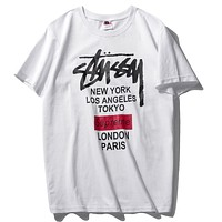 Boys & Men Supreme x Stussy  Fashion Casual Shirt Top Tee