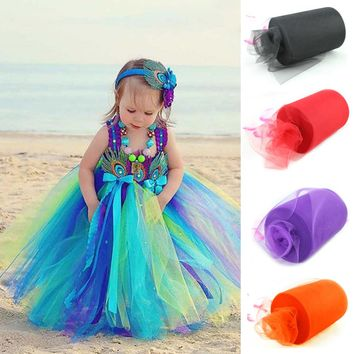 26 Colors Pick 15cm x 90 Meters (6inch x 100 yard) Tulle Roll Spool Fabric For Tutu DIY Skirt Gift Craft Party Bow