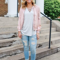 Make Me Blush Bomber Jacket