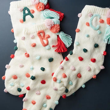 Pommed Monogram Stocking