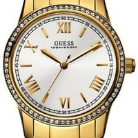 Guess Women's U12645L1 Gold Stainless-Steel Quartz Watch with White Dial