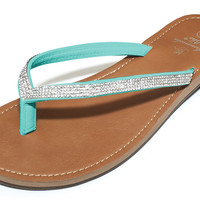 Bling Sandals in Turquoise by Amanda Blu